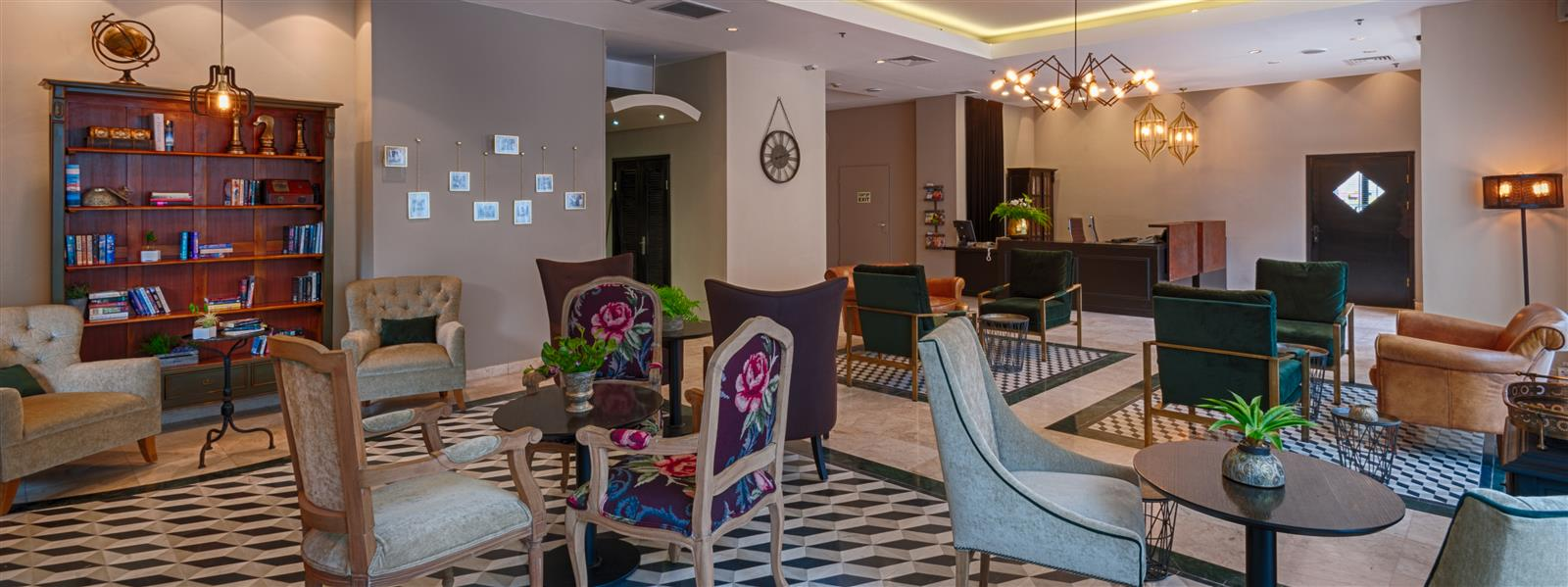 The lobby in Eldan Hotel –  Boutique hotel in Jerusalem