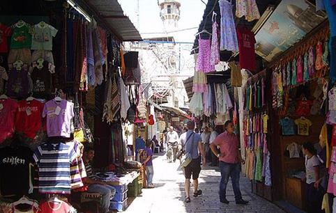 The Arab market at the Old City
